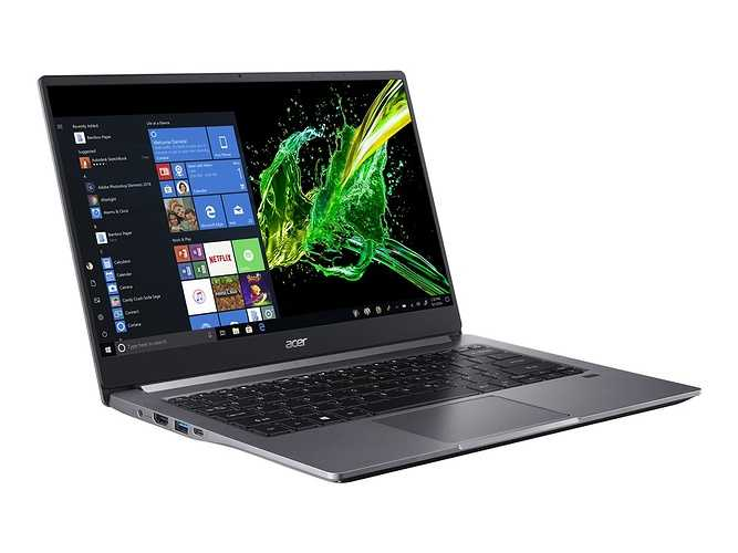 ACER Swift 3 Intel RYZEN 5 facepenche